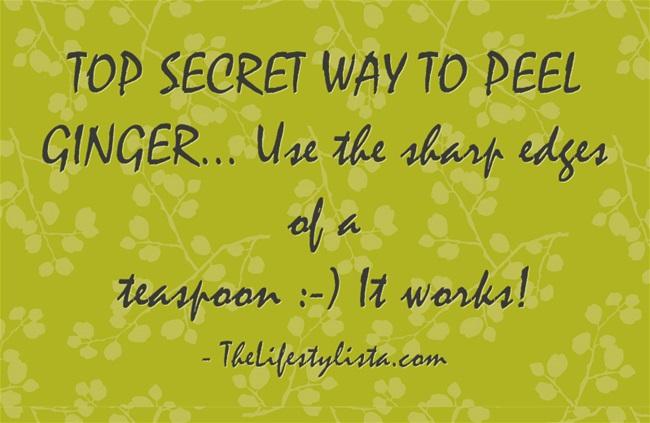TOP SECRET WAY TO PEEL GINGER…