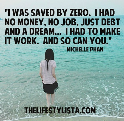 Saved by ZERO…  How hitting rock bottom can actually help!