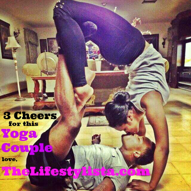 Happy Valentines Day :-) What new thing will you try today…? Kissing Yoga Couple!