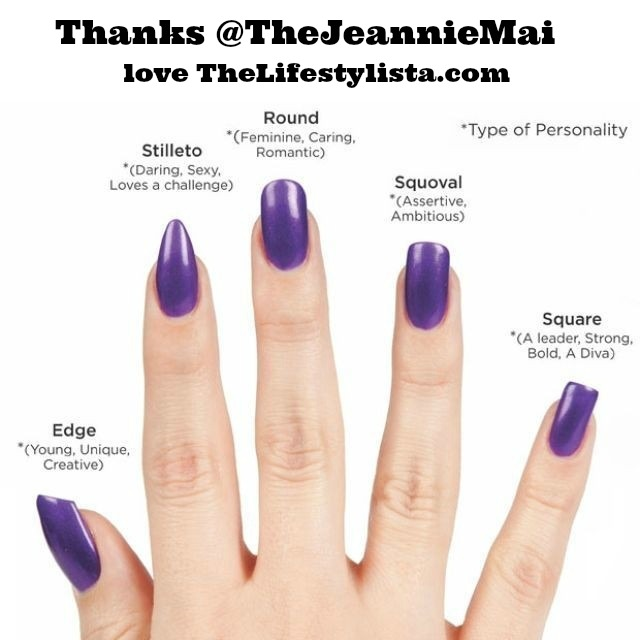 Curious about what your NAIL SHAPE says about you..?