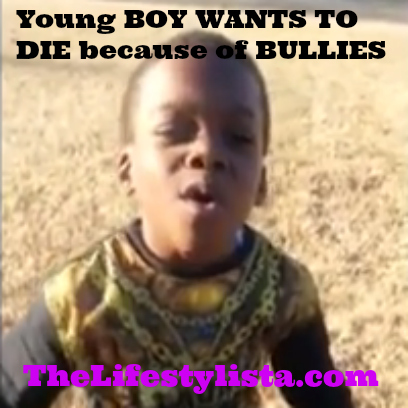 :-( Young BOY WANTS TO DIE because of BULLIES AT SCHOOL