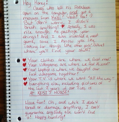 Funniest, craziest BREAKUP LETTER EVER!  DO YOU AGREE WITH THIS BALLSY LADY'S response to her guy's INFIDELITY?