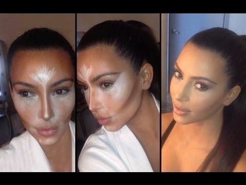 Resultado de imagem para kim kardashian contouring