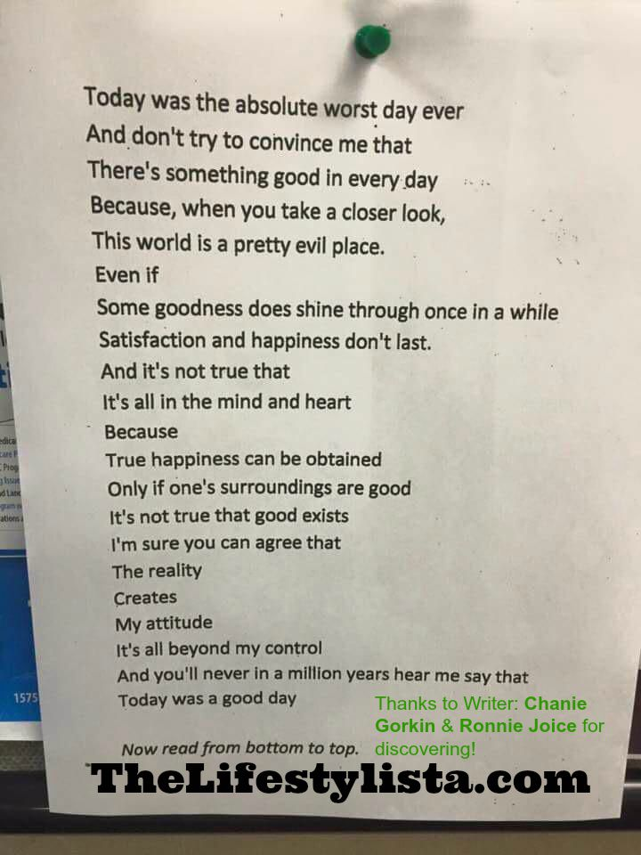 This Anonymous Poem Posted In A London Bar Is Driving MILLIONS Of People Crazy With Its AMAZING TWIST ENDING…